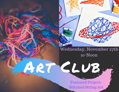 Art Club - Stitched String Art