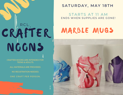 Crafter-noon: Marble Mugs