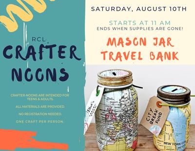 Crafter-noon: Mason Jar Travel Bank