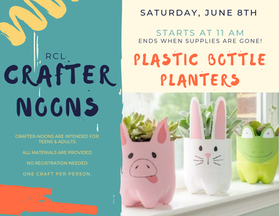 Crafter-noon: Plastic Bottle Planters