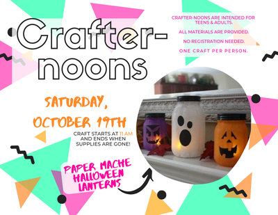 Crafter-noons at the Library