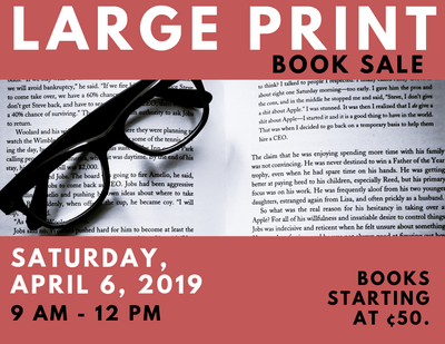 Large Print Book Sale
