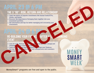 CANCELED - Re-Building Your Finances After a Life-Changing Event