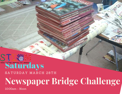 STEAM Saturday - Newspaper Bridge Challenge