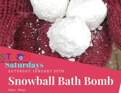 STEAM Saturday - Snow Ball Bath Bomb