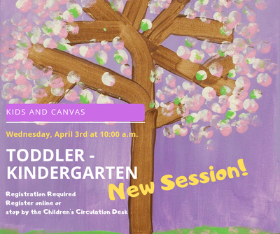 Toddler- Kindergarten Kids & Canvas